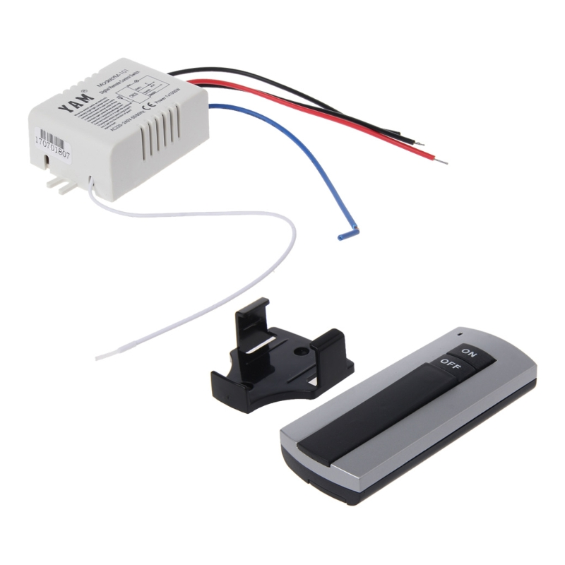 Wireless 1 Channel ON/OFF Lamp Remote Control Switch Receiver Transmitter