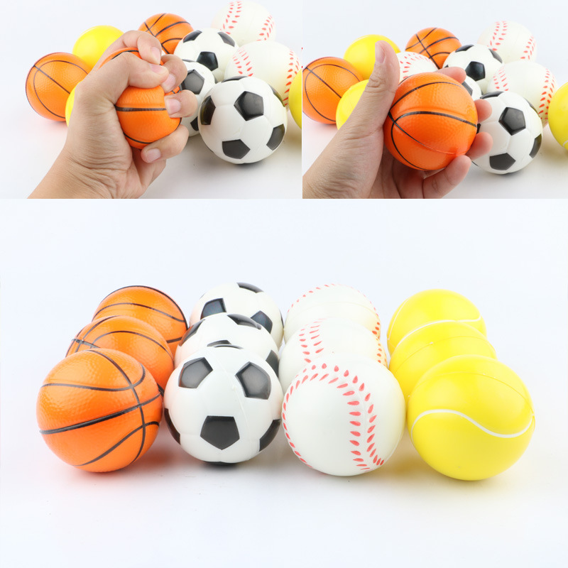 Antistress Squeeze Football Toys Baseball Tennis Ball Baseketball Squishy Slow Rising Anti Stress Relief Sport Ball Adult Toys