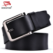 DINISITON 2017 High Quality Genuine Leather Men Designer Belt Brand Strap  Fashion Pin Buckle Jeans Casual Male Metal Homme
