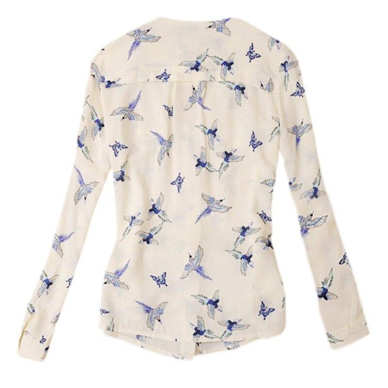 2016 Chic font b Women s b font V Neck Long Sleeve font b Shirt b