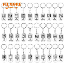 40Styles Game Rainbow Six Siege Keychains Stainless Steel Dog Tag Car Keyring Holder Game Figure Chaveiro Charm Jewelry Souvenir(China)