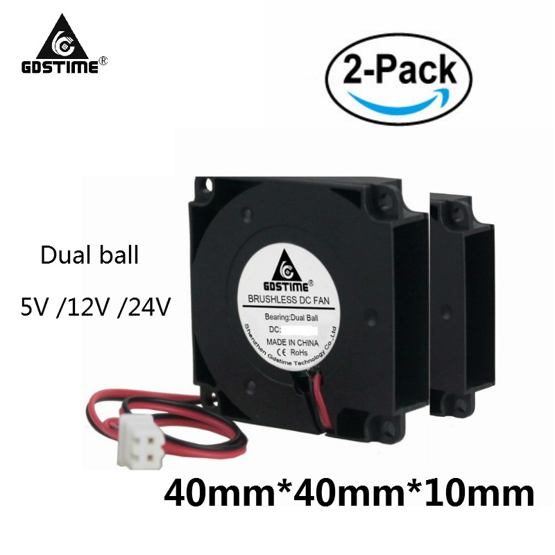 1 Pcs Gdstime 3d Printer 12 Volts 4cm Dual Ball Bearing Small Cooler 40*40*10mm Blower Fan 40mm Dc Brushless Cooling Fan 12v Fans & Cooling Fan Cooling
