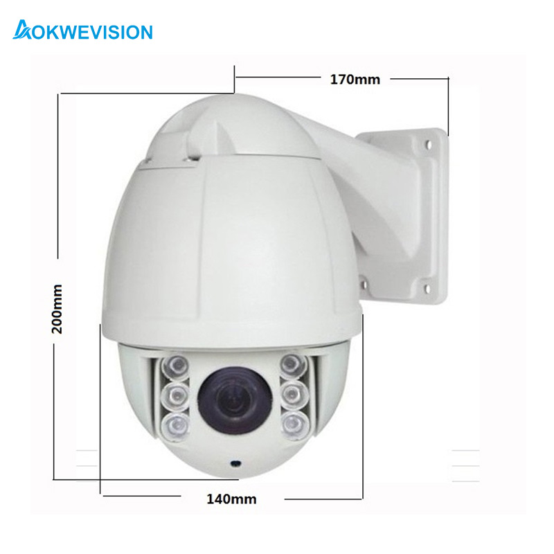 Free Shipping 1080P 2MP 10X optical zoom outdoor Mini Onvif network PTZ IP camera poe high speed dome with mobile phone access 8x zoom optical mobile phone telescope camera white