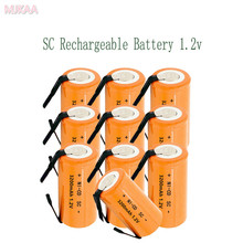 12PCS SC 1.2V 3200MAH rechargeable battery 4/5 Sub C ni-cd cell with welding tabs for electric drill screwdriver