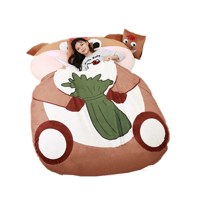 Fancytrader Giant Stuffed Animal Horse Bed Soft Plush Beanbag Mattress Sofa Mat