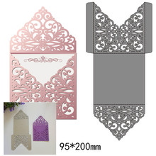 Hollow Lacework Envelope Metal Cutting Dies for DIY Scrapbook Embossing Paper Craft Creative Cut New