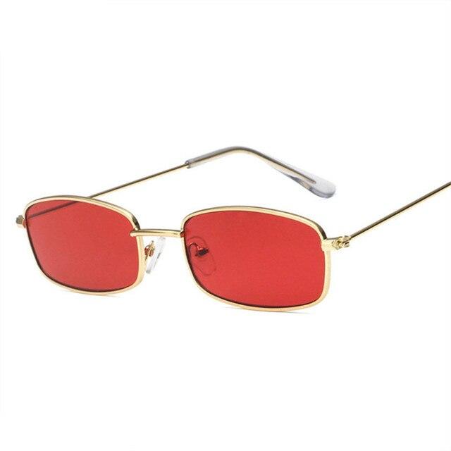 120403282b NYWOOH Vintage rectángulo gafas de sol de las mujeres hombres Retro gafas  de sol de la