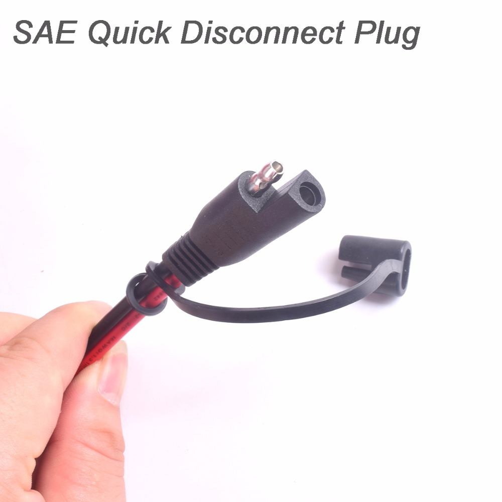 Car Cigarette Lighter Plug to SAE Quick Disconnect Adapter Extension ...