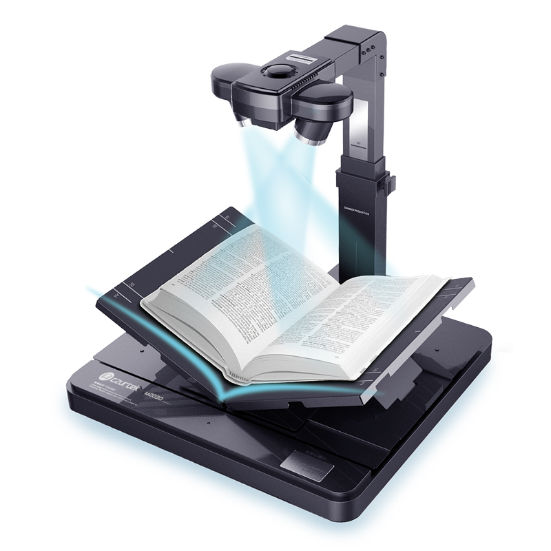 Fast Book Scanner with 10MP Dual Camera & 34 Languages OCR & Preview Scanning with Two Lens Synchronously & Intelligent Software