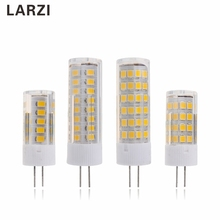 LARZI G4 LED Lamp Corn Bulb AC 220V 3W 5W 7W 2835 SMD 33 51 75 LED Light Bulb High Quality replace Halogen G4 for Chandelier dimmable e12 e14 led bulb corn light 5w 7w 10w g9 g4 silicone lamp 3014 smd ac 110v 220v chandelier replace the halogen lamps