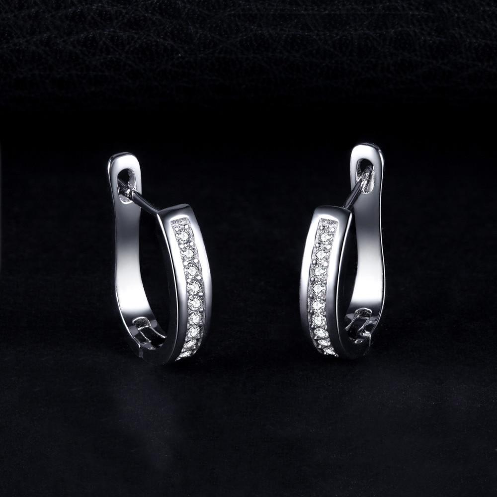 Sterling Silver Earrings Anniversary Channel Eternity Earrings New Fine Jewelry Gift For Girlfriend 2018 Hot 1