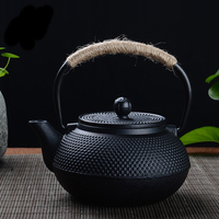 Japanese Cast Iron Teapot Kung Fu Tea Pot Travel Tea Kettle With Infuser Strainer Water Kettle Pots Boiler 600ml