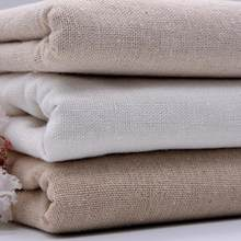 50*150 Meter Hemp Cotton Linen Fabric For Patchwork Sewing Dolls Painting Textiles Curtains Bags Tablecloth Width 145cm(China)