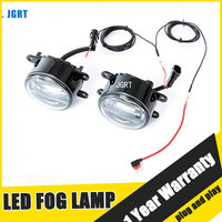 JGRT Car Styling LED Fog Lamp 2005 ON for Toyota Patrol LED DRL Daytime Running Light High Low Beam Automobile Accessories