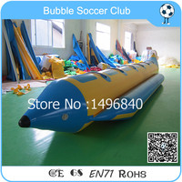 Free Shipping 6 Person Customized Inflatables Banana Boat PVC Inflatable Water Park Banana Boat