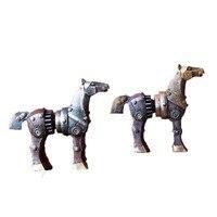 Resina rueda de engranaje Industria de Mesa Caballo Figurines Grandes Resina de Decoración Artesanal De Amigo a Casa Decoración de La Mesa En Miniatura