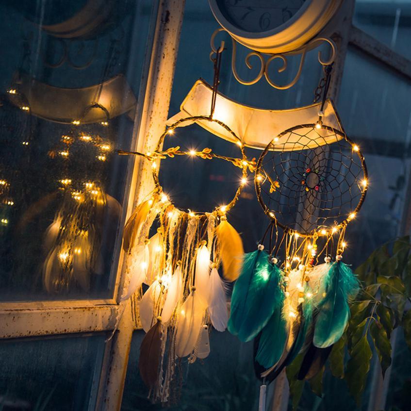 Dreamcatcher 2 Meter 20LED Beleuchtung Mädchen Zimmer Glocke Schlafzimmer  Romantische Dekoration LED Licht Dreamcatcher Hause Wohnzimmer