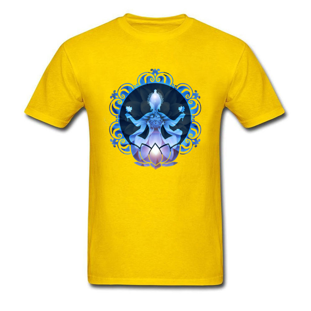 Men's Lotus Buddha Print T-Shirt 2
