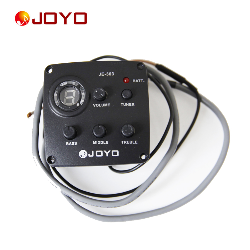 New Joyo Pickup  For Guitar JE-303 3 Band EQ with Tuner Guitar Accessories guitar pick holder belcat bass pickup 5 string humbucker double coil pickup guitar parts accessories black