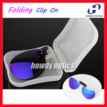6901bc4464 Retail Mirror Lens Frog Driving Glasses Eyeglasses Sunglass Folding  Polarized Clip On Sunglasses With Plastic Case