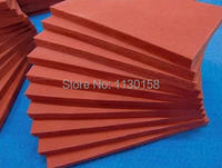500X500X15mm Closed Cell Silicone Rubber Foam Sheet 500mm Width 15mm Thickness Sponge Silicone Sheet RED Color