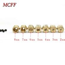 Roue de couplage Flexible en laiton, jeu de coupleurs hexagonaux en laiton avec vis, pour les jouets, modèles RC, 15 pièces/lot de 3mm 4mm 5mm 6mm 7mm