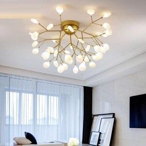 Image 1 - Modern LED Ceiling Chandelier Lighting Living Room Bedroom Chandeliers Creative Home Lighting Fixtures AC110V/220V Glass shade