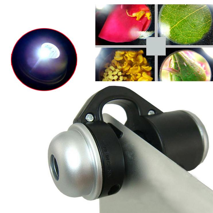 Mobile Phone Macro High Definition Lens 30X Super Lenses Magnifier LED Lights