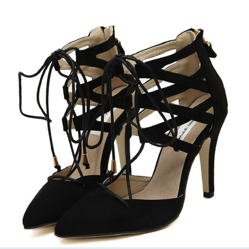 2017 New Fashion Women Pumps Wedding Sexy Shoes High Heels Women Sandals Spring Summer Autumn Black Shoes Woman Thin Heels Pumps