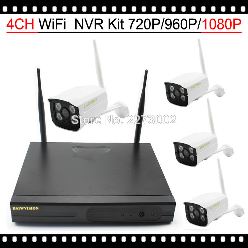 цены  HKES 2MP Wifi IP Camera System 4 Channel nvr wireless 1080P Video recorder with waterproof wifi cam Plug and play
