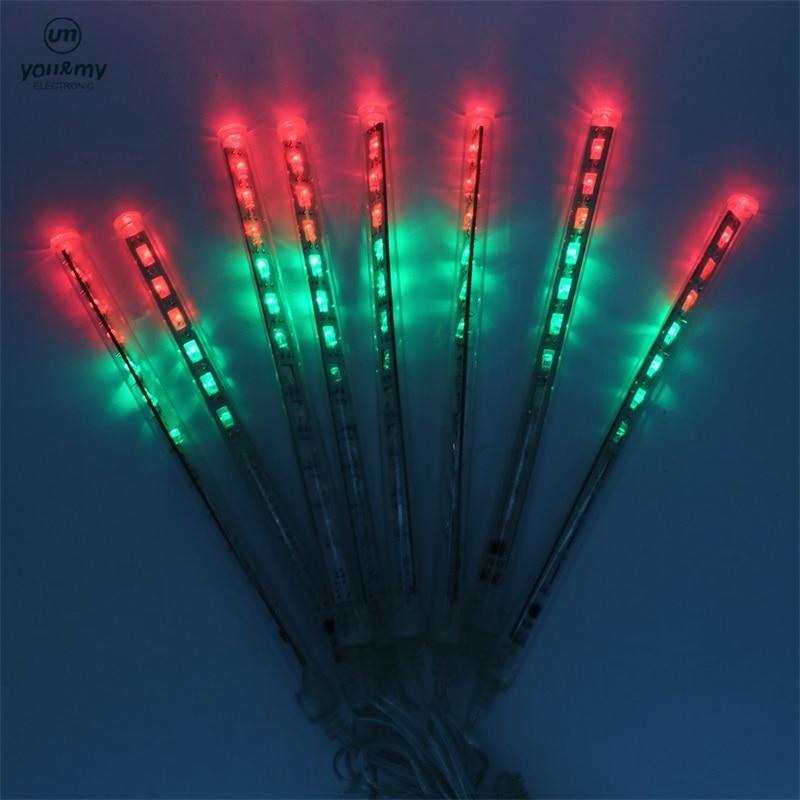 SZYOUMY 20CM Meteor Shower Rain Tubes LED Lampu Krismas Pernikahan - Pencahayaan perayaan - Foto 5