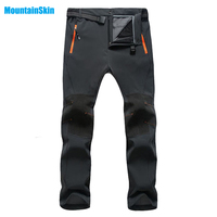 2017 Men's Winter Inner Fleece Softshell Hiking Pants Outdoor Sports Thermal Brand Camping Trekking Skiing Male Trousers MA045