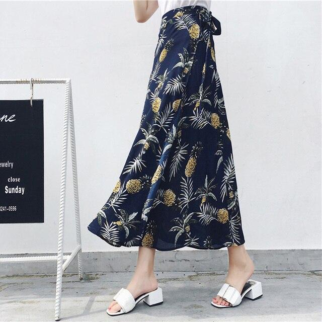 Женская асимметричная шифоновая юбка макси в богемном стиле 5