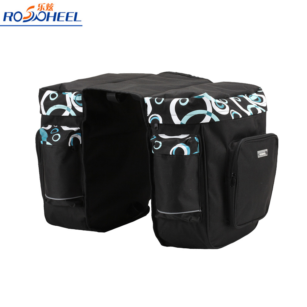 ROSWHEEL Spuer Strong 30L Bicycle Bag Double Side Rear Bag Cycling Rack Rear Seat Bag Pannier Bike Accessory outdoor bicycle bag bike double side rear bag