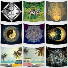 Hot sale animal  zebra floral patterns wall hanging tapestry home decoration tapiz pared 1500mm*1500mm