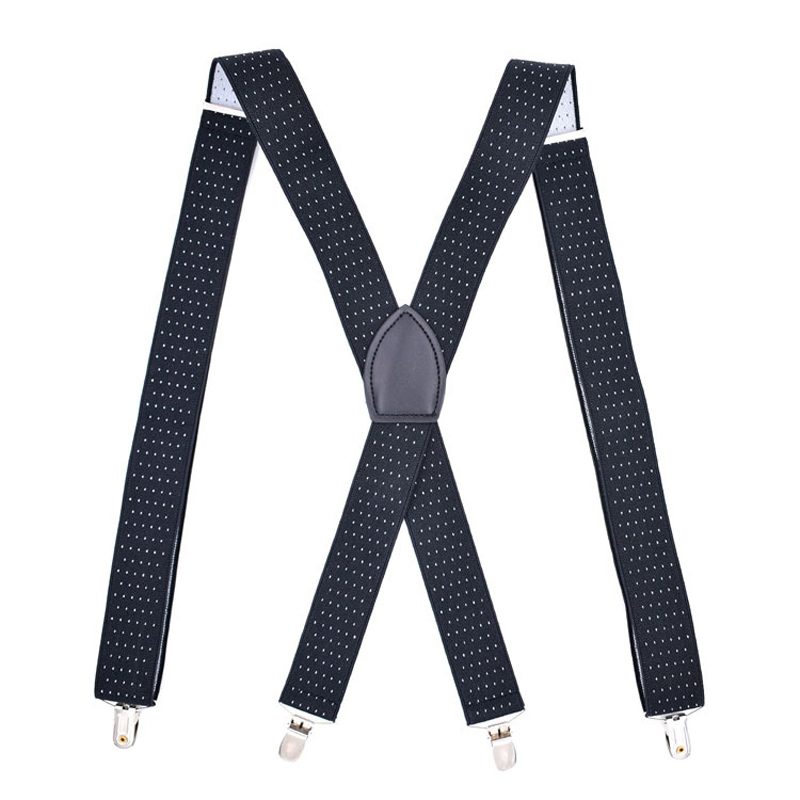 Man's Suspenders 4 Clips Outdoor Braces Elastic Adjustable Suspensorio Bretelles Tirantes Trousers Ligas Cowboy Strap