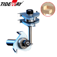 Tideway 1/2 Shank Industrial Grade Woodworking Tools 3 Teeth T shaped Router Bits Tenon Woodworking Cutter Joint Bits For Wood