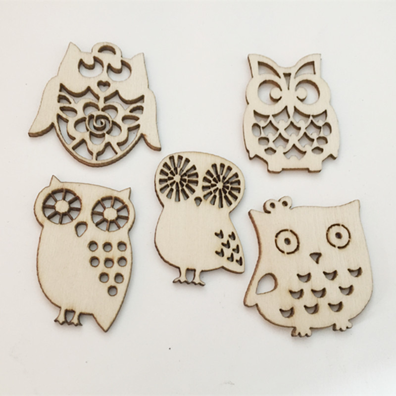 10pcs/ Wooden Owl / Wooden eagle /home decoration/children gifts/DIY/Lovely/ ...
