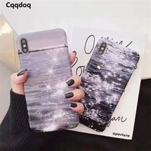 Cqqdoq Glistening Ocean Protective Case For iPhone 6 6S 7 8 Plus Thin Soft TPU Phone Cases For iPhone X XR XS MAX Coque Fundas cqqdoq gradient diamond phone case for iphone 6 6s 7 8 plus soft tpu protective shell cover for iphone x xr xs max cases fundas