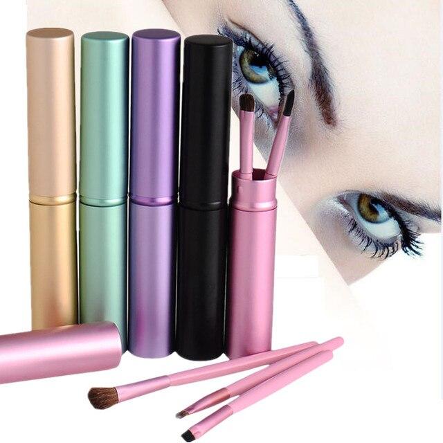 Professional 5pcs Portable Mini Eye Makeup Brushes Set Reals Eyeshadow Eyeliner Eyebrow Brush Lip Make Up Brushes Set kit