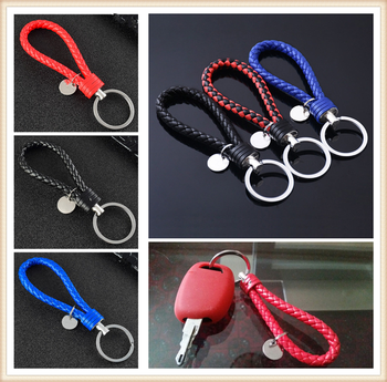 New car shape pendant new woven leather keychain rope DIY for Subaru Forester Ascent XV WRX VIZIV Outback image