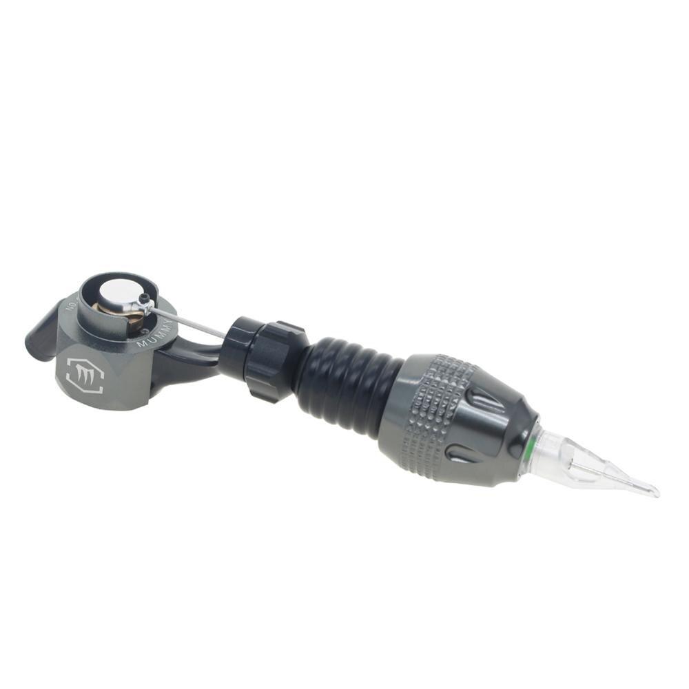 Tatuagem Rotary Machine Gun com Cartucho Ajustável Aperto Do Tatuagem (cinza)