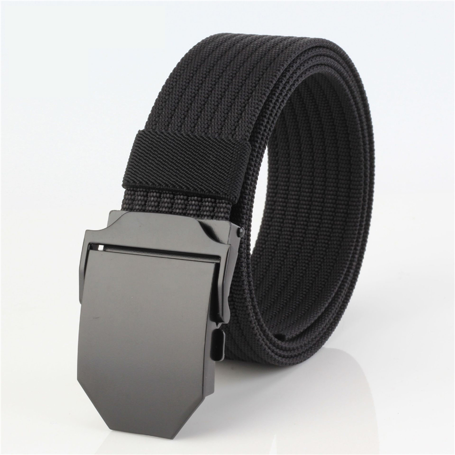 Luxury Good quality canvas casua Knitted nylon belt alloy Buckles Belts Army Tactics design for men belt 120cm male strap 28