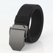 лучшая цена Luxury Good quality canvas casua Knitted nylon belt alloy Buckles Belts Army Tactics design for men belt 120cm male strap 28
