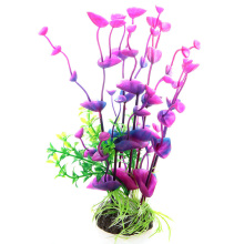 Plant Artificial Plastic Gradient Grass Aquarium Decoration Colorful Lifelike Purple