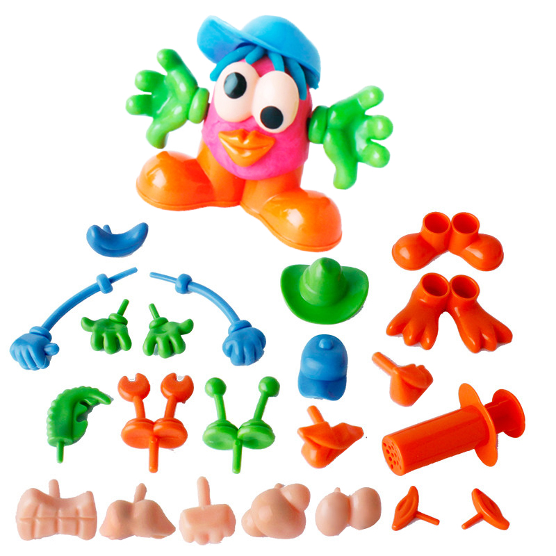 Color Plasticine Model Tool Toy Creative 3D Tools Set, Clay Moulds Deluxe Set, Learning Education Toys Funny Syringe Accessories
