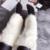 Venda quente de alta qualidade aquecedores do pé do joelho-alta de pele de lã mulheres/meninas da forma da neve do inverno bota socks