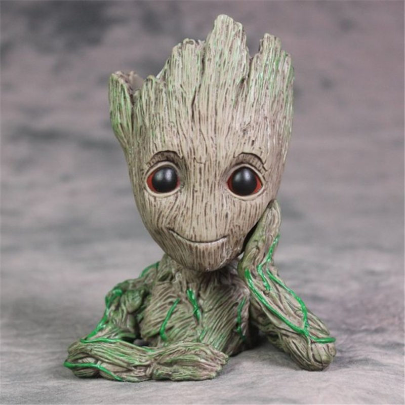 15CM Guardians of The Galaxy Flowerpot Baby Action Figures Cute Model Toy Pen Pot Christmas Gifts For Kids Home Decoration Toys