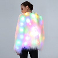 Autumn WShow Coat Night Star Christmasinter Costume Fake Fur Plus Size Coat Luminous LED Dance