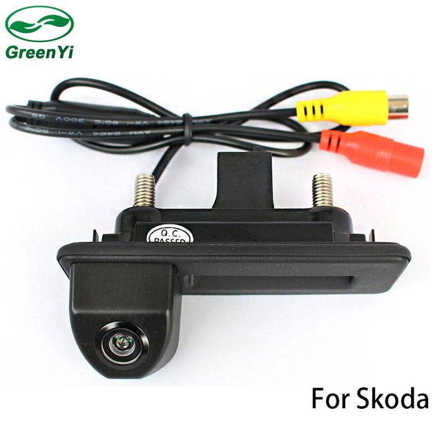 GreenYi Car Rear View Reverse Backup Camera Rearview Reversing Parking Camera For Skoda Roomster Fabia Octavia Yeti Superb Audi